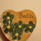 Bath Heart - Dark Green - Wooden Miniature