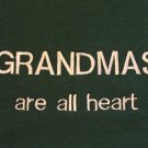 Grandmas are All Heart - Large Embroidered Sweatshirt