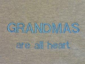 Grandmas are All Heart - Medium Embroidered Sweatshirt