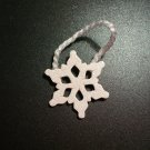 Hanging Snowflake  Small - Christmas Wooden Miniatures