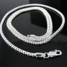 "Sterling Silver 2.5mm Popcorn Chain Necklace 16"" - 24"""
