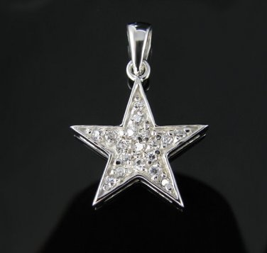 .925 Sterling Silver Small Super Star Pendant Charm NEW