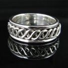 .925 Sterling Silver Celtic Knot Men's Ring Sizes: 9-13