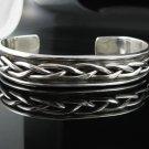 """8"""" .925 Sterling Silver Celtic Knot Cuff Bracelet"""