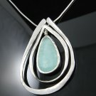 "16"" .925 Silver Necklace w/Ancient Roman Glass Pendant!"