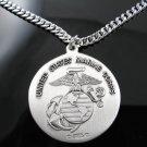 .925 Silver U.S. Marine Corps Saint Christopher Pendant