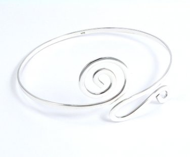 """NEW .925 Sterling Silver 10"""" Adjustable Swirls Arm Band"""