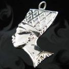 .925 Silver Egyptian African Queen Nefertiti Pendant !