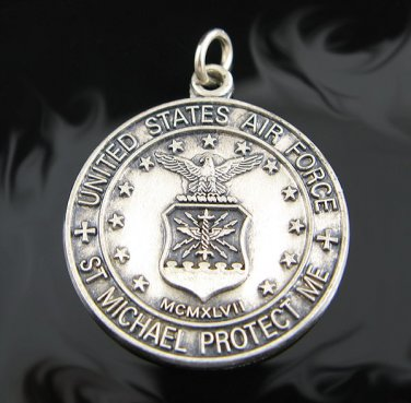 .925 Sterling Silver U.S. Air Force St. Michael Pendant