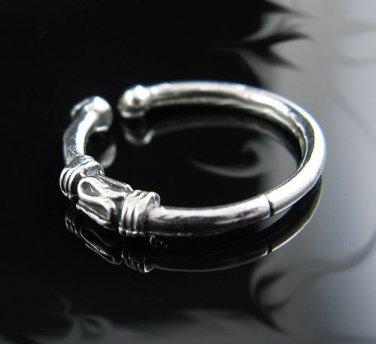 .925 Silver Bali Bar Design Adjustable Ear Cuff Hugger!