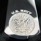 .925 Silver U.S. Navy Military Dog Tag Pendant - NEW!