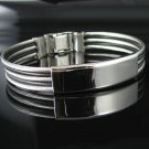 "Men's 8.5"" Stainless Steel ID Cable Bracelet"
