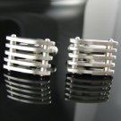 Classy 5 Row Stainless Steel Cuff Link Set