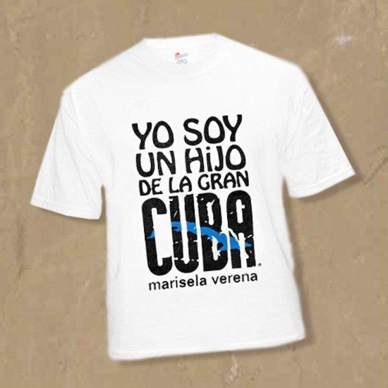 """SMALL I'm a SON of Cuba-the Great """"HIJO DE LA GRAN CUBA""""T-shirt  Sz S  kirikirimusic.ecrater.com"""