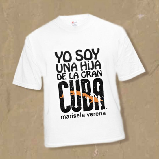 "SZ Medium DAUGHTER OF CUBA-THE GREAT-""HIJA DE LA GRAN CUBA"" MEDIUM TSHIRT kirikirimusic.ecrater.com"