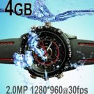 4GB Waterproof 2.0MP 30fps HD Spy watch DVR, new product