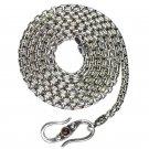 Gerochristo 3055 - Sterling Silver Byzantine Chain with Garnet - 50 cm
