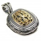 Gerochristo 3350 - Gold & Silver - Medieval-Byzantine Locket Pendant with Cross