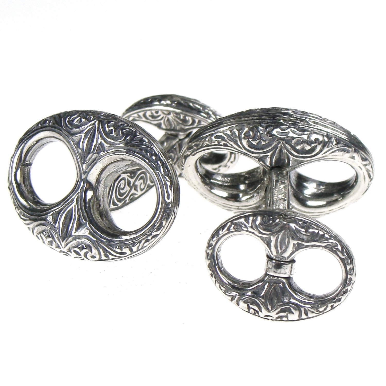 Gerochristo 7099 - Sterling Silver Medieval Byzantine Cufflinks