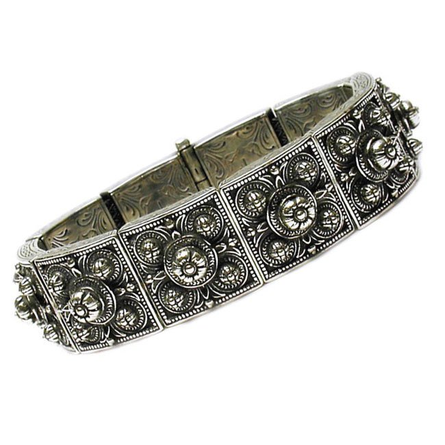 Gerochristo 6035 - Solid Sterling Silver Medieval-Byzantine Bracelet