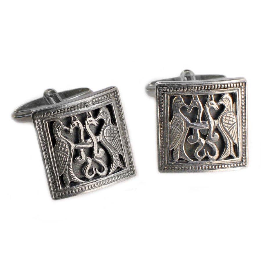 Gerochristo 7022 - Sterling Silver Medieval Byzantine Cufflinks
