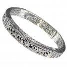 Gerochristo 6290 - Sterling Silver Medieval-Byzantine Cuff Bracelet