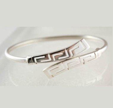 Meander-Greek Key - Sterling Silver Cuff Bracelet