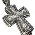 Gerochristo 5211 - Sterling Silver Medieval Byzantine Locket Cross Pendant