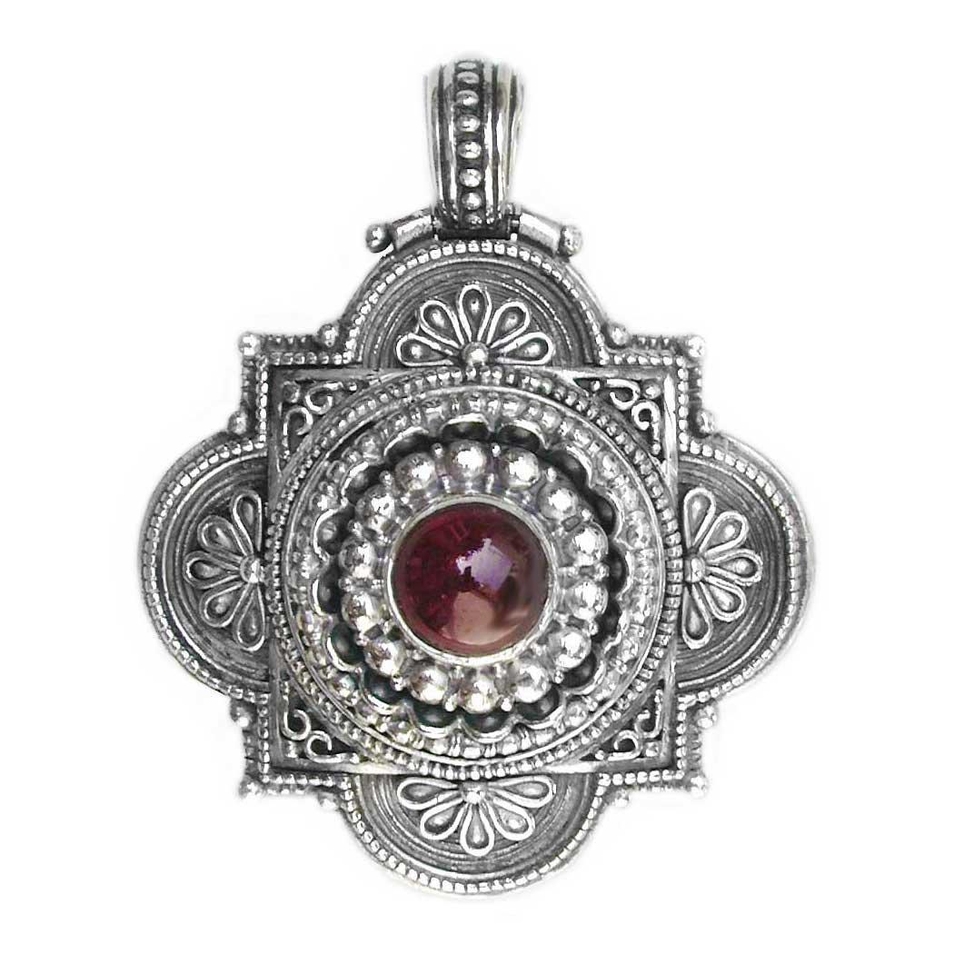 Gerochristo 3140 - Sterling Silver Ornate Medieval-Byzantine Pendant