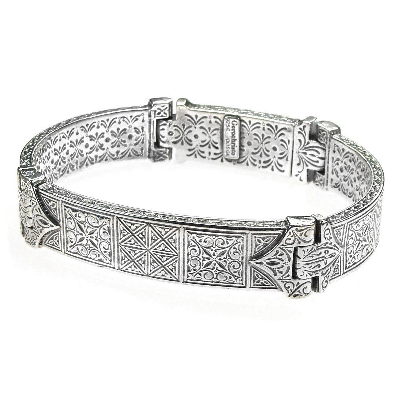 Gerochristo 6286 - Sterling Silver Medieval Byzantine Bracelet