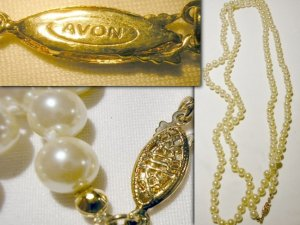 Antique Avon Pearl Necklace