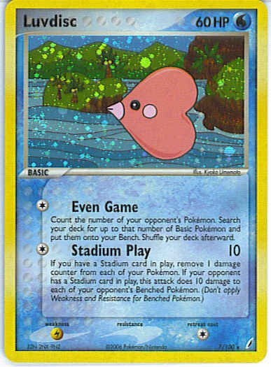 EX Crystal Guardians 7/100- Luvdisc