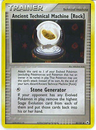Hidden Legends 85/101- Ancient Technical Machine [Rock] (Reverse Holo)