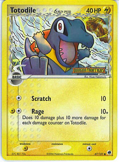 Dragon Frontiers 67/101- Totodile (Reverse Holo)