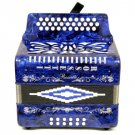 Diatonic Button Accordion 3 ROW Blue NEW accordion