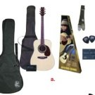 Full Size Acoustic Guitar Starter Set package w/case