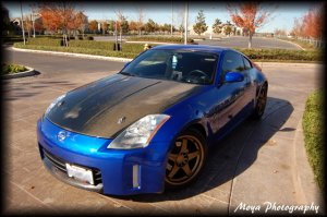 2003-2007 Nissan 350Z OEM style carbon fiber hood
