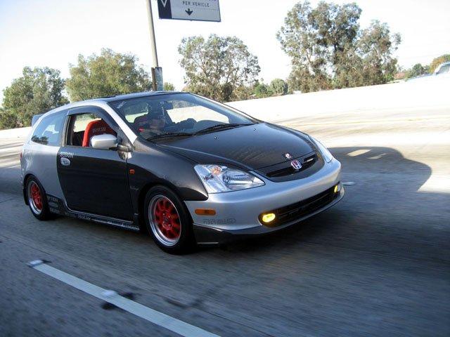 2003 2006 Honda Civic Si Hatchback Oem Style Carbon Fiber Hood