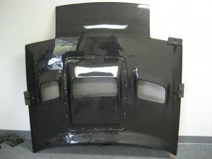 1986-1992 Mazda RX-7 FC3S REF vented carbon fiber hood