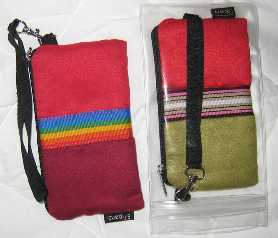 Pouches (x2) camera iphone cell phone wallet colorful