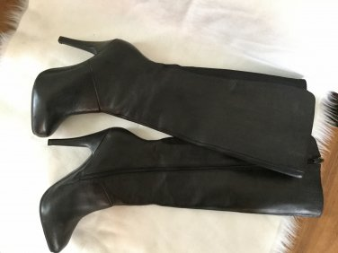 MeToo Genuine Leather High Hill Lady's Boots