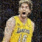 Pau Gasol LA Lakers montage mosaic pop art print. signed COA and 1 of only 25 issued