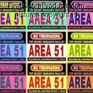 CANVAS AREA 51 sign poster pop art print ALIEN!! limited signed coa 1-25