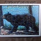AMAZING Black Bear Mosaic Montage limited signed coa 1-25