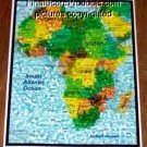 Amazing African art AFRICA Map Wild Animals Montage limited signed coa 1-25