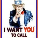 Uncle Sam CALL MY IPHONE parody canvas poster