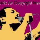 SC Freddie Mercury Queen pop art print w/signed COA