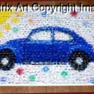 Amazing VW Bug Beetle sunny blue Volkswagen Montage limited signed coa 1-25