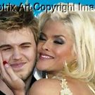 faux Oil Painting Anna Nicole Smith with Daniel CANVAS limited signed coa 1-25