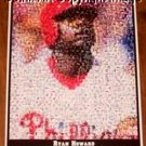 Amazing Philadelphia Phillies Ryan Howard Montage limited signed coa 1-25